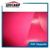 rosafarbenes Plastikplane-Gewebe Belüftung-300*500d