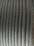 직류 전기를 통한 철강선 케이블 밧줄 6X24+7FC