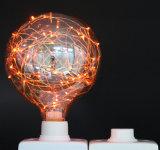 Iluminación estrellada roja del bulbo del globo LED del nuevo diseño para la decoración