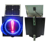 Tráfico Solar Testigo con el rojo y azul LED parpadeando