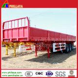 De semi Vrachtwagen van de Aanhangwagen met de Sloten van de Container van Zijwanden