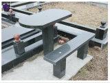 Monumento de granito negro absoluto y el cementerio Memorial bench