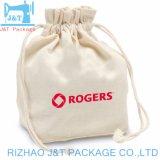 En toile de coton polyester petit sac avec lacet de serrage à l'impression