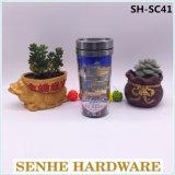 Großhandelsdoppel-wandige 16oz Plastikkaffeetasse (SH-SC41)