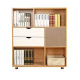 Bibliothèque simple de couleur en bois moderne bon marché