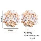 2017 Boucle d'oreille el trébol de la flor de cristal pendientes