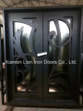 Doppelte Eingangs-Eisen-Tür-Hand schmiedete vordere Eisen-Türen