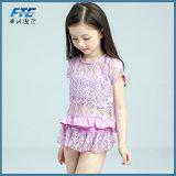 사랑스러운 소녀 아이를 위한 3PCS 레이스 비키니 Beachwear