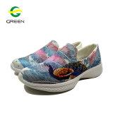 Zapatos atléticos de las señoras del OEM con la parte superior del acoplamiento de la impresión