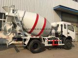 Dongfeng 6은 판매를 위한 3 M3 시멘트 믹서 교반기 트럭을 선회한다