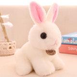 Giocattolo musicale del coniglietto del coniglio della peluche con il verso & lo slogan