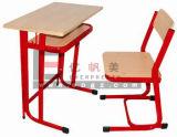 Escritorio y silla calientes de los muebles de escuela de las ventas solos con la cubierta doble