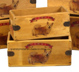 Corgi Dog boîte Vintage Dog Treats grand don de la caisse de stockage