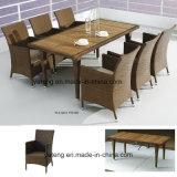 Conjunto de cena impermeable al aire libre determinado del hotel de los muebles de la silla del vector de calidad superior del &Teak (YTA100&YTD368)