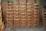 家具のChiavariフラッシュシリーズスタック可能ブナのカシ木十字の背部椅子
