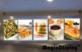Van de LEIDENE van het restaurant Fastfood Verlicht Raad van het Menu Teken