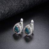 La mujer Bisutería Diamante CZ Zircon Green Opal pendientes