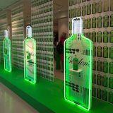 LED de visualización de acrílico profesional, Botellero