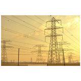 Torretta d'acciaio unipolare galvanizzata ad alta tensione della trasmissione di energia elettrica