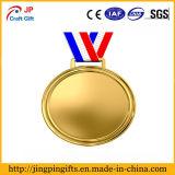 Médaille en alliage de zinc faite sur commande en métal d'or