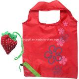 Sacchetto di acquisto pieghevole del tessuto del poliestere del sacchetto di Tote della frutta promozionale del punto