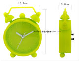 子供の二重鐘の寝室の置時計のシリコーンの装飾的な机の目覚し時計