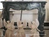 À venda lareiras de mármore com multa Hand-Carved Qualidade e design simples T-7104