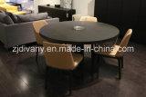 Tabella di legno rotonda di stile della mobilia europea della sala da pranzo (E-33)