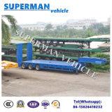 De Aanhangwagen Lowdeck van China 100t Lowbed/voor Kraan
