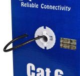 El gigabit del cable de LAN de UTP CAT6 los 305m Platija-Pasó Poe negro compatible