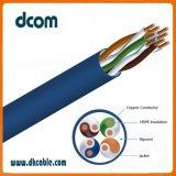 Cable de LAN CAT5e de 4 pares 24AWG de cobre puro cca 100m de cable de red