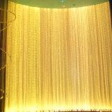 Espiga de Plata brillante Flash Cortina de cadena de la línea divisora de puerta y ventana pura faldilla cortina de la decoración del hogar 0.95x1.95m U0604