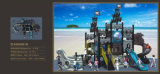 Das crianças de tamanho médio do navio de pirata de Kaiqi campo de jogos temático (KQ50051B)
