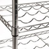 高品質の調節可能な4本のびんの平らな金属のワインラック