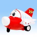 소리, 빛, 눈 깜짝할 사이 기능을%s 가진 아이들 아이를 위한 147102 소형 관성 소통량 만화 모형 항공기 재미 장난감