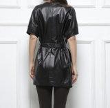 袖なしレディース女性本物のヒツジの革のジャケット