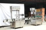 Máquina que capsula de relleno automática linear del fregado de las botellas