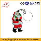 De promotie Sleutelring van de Verf van pvc, de Zeer belangrijke Ketting van Kerstman (jk-001)