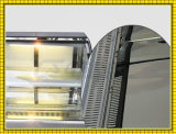 la partie supérieure du comptoir de boulangerie de 220V 230V a déplié l'étalage frigorifié par gâteau en verre