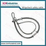 Le whip en acier au carbone Contrôler le câble de sécurité