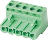 Разъем зеленого UL VDE Pluggable/вставляемый терминального блока (WJ2EDGK-5.0/5.08)
