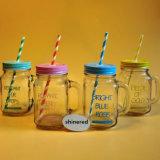 Tazza di vetro popolare della paglia del muratore della tazza del muratore della tazza della spremuta della bevanda dell'America