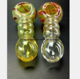 Tubo di bambù di figura del tubo di vetro giallo del narghilé che ricicla olio