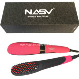 2016 New Arrive Hot Sale Nasv Beauty Star Ceramic Hair Straightener Brush with Negative Ion