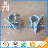 Bride de double pipe en plastique en nylon de clip de clou de boyau/bride de pipe jumelle de pp avec le caoutchouc rayé