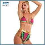 Beachshiny Sexy Lantejoulas bandagem de Mulheres de cor dourada Bikini Definido