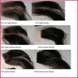 Pelucas brasileñas del cordón del frente del pelo humano de la Virgen de Remy