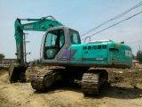 Máquina escavadora usada Kobelco Sk200-6 da esteira rolante, máquina escavadora de Kobelco Sk200