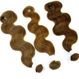 Горячие человеческие волосы Weft Made Brown объемной волны нового продукта Sale в Китае