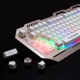 Teclado puesto a contraluz LED mecánico del juego (KB-906EL-C)